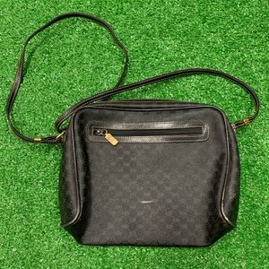 Vintage Gucci Black Crossbody Bag